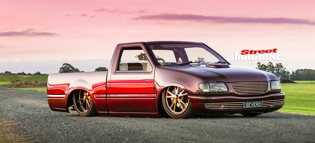 SLAMMED CHOPPED HOLDEN RODEO MINI TRUCK WITH AN LS1