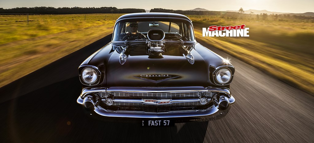 1000HP BLOWN 1957 CHEVROLET 210