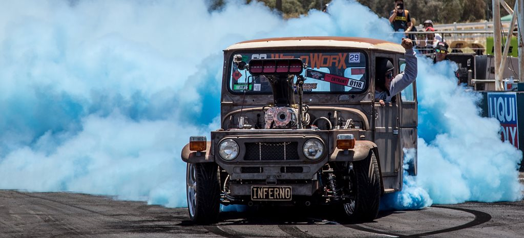TOM BELTRAME BLOWN BIG-BLOCK FJ40 LANDCRUISER BURNOUT CAR – INTERVIEW