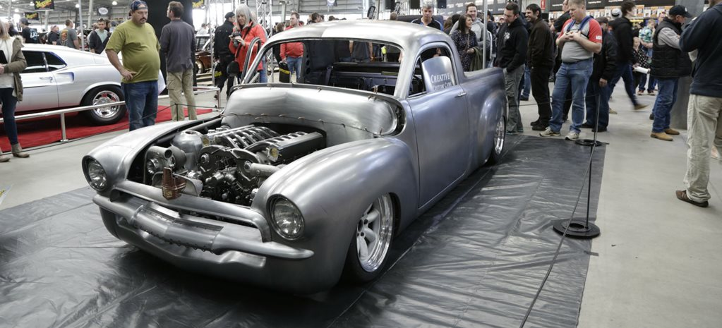 TONY MORPHETT REVEALS RETROTECH FJ HOLDEN UTE AT MOTOREX - VIDEO