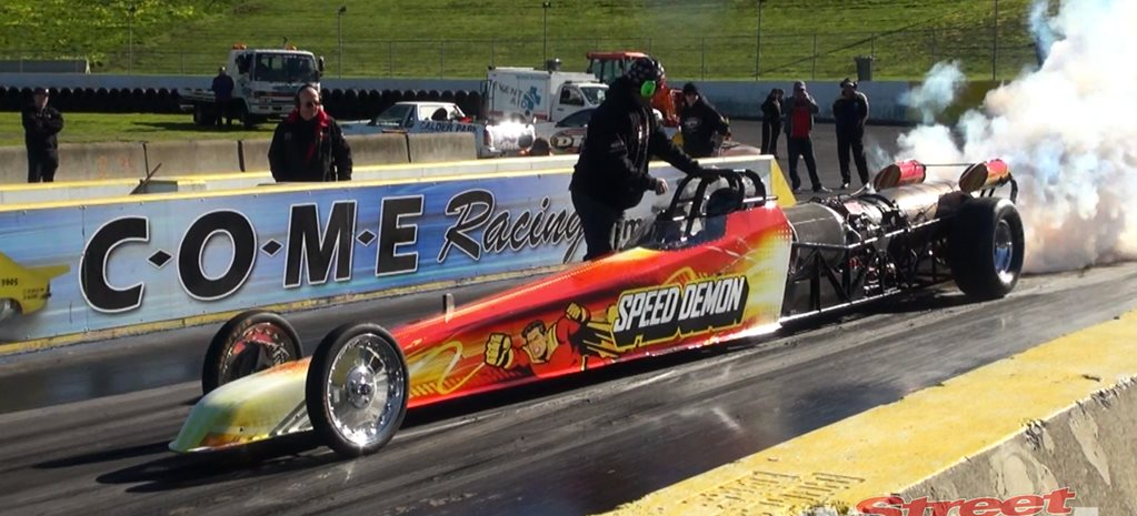SPEED DEMON JET DRAGSTER AT CALDER PARK