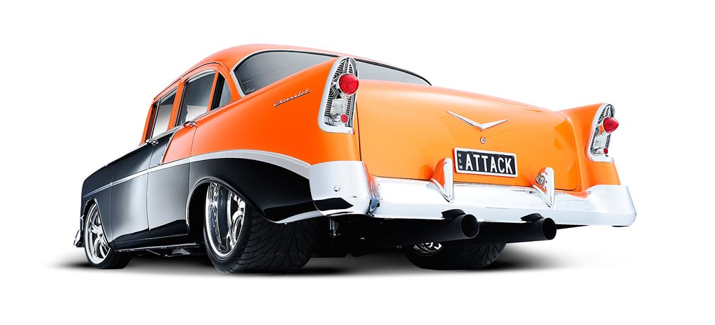 TWIN-TURBO BIG-BLOCK 1956 CHEVROLET BEL AIR - ATTACK