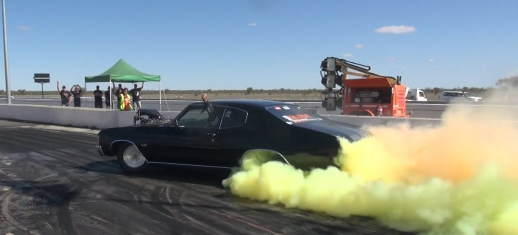 DAVE CUFONE 1FATRAT CHEVELLE WINS RED CENTRE NATS BURNOUT CHAMPIONSHIP