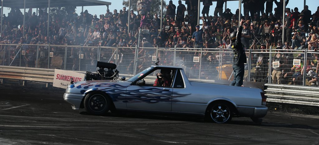 DIESEL BLOWN FALCON UTE WINS RED CENTRE NATS BURNOUT MASTERS