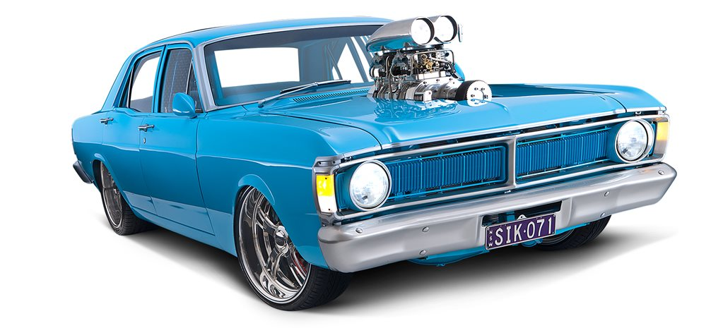 BLOWN 383 CLEVELAND-POWERED FORD XY FALCON