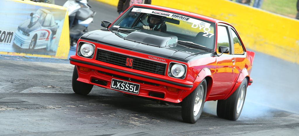 355 STROKER LX TORANA SS HATCH AT DRAG CHALLENGE
