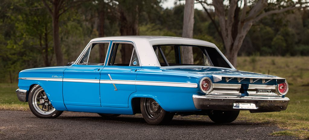 BLOWN NISSAN V8-POWERED '64 FORD COMPACT FAIRLANE