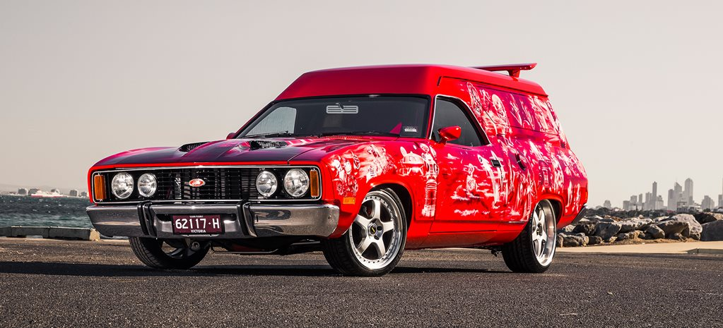 1977 FORD XC FALCON SUNDOWNER PANEL VAN - JAFFA