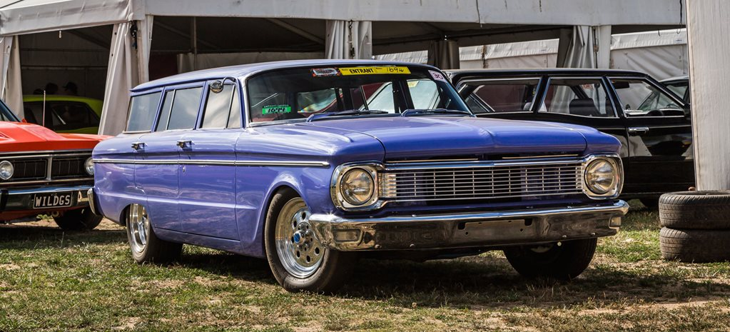 CHOPPED 351 WINDSOR-POWERED XP FORD WAGON AT SUMMERNATS