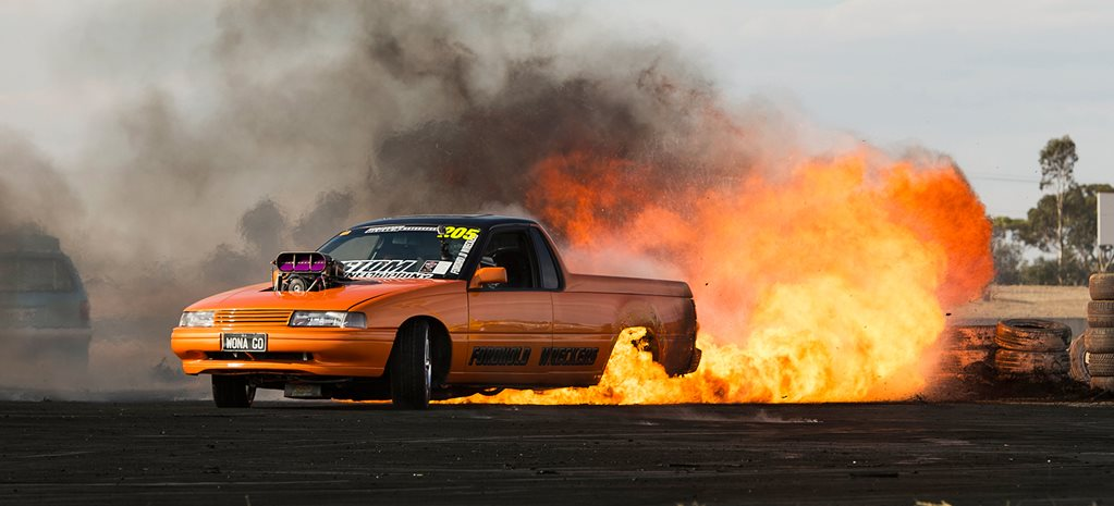 WORLD'S BIGGEST BURNOUT FIRE - VIDEO FLASHBACK