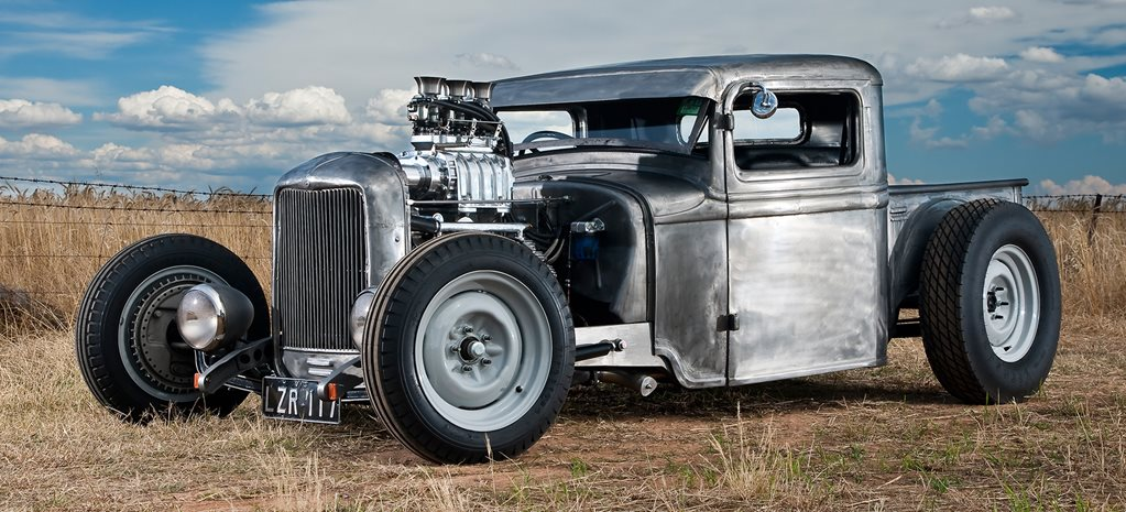 1934 BLOWN CLOSED CAB PICKUP HOT ROD