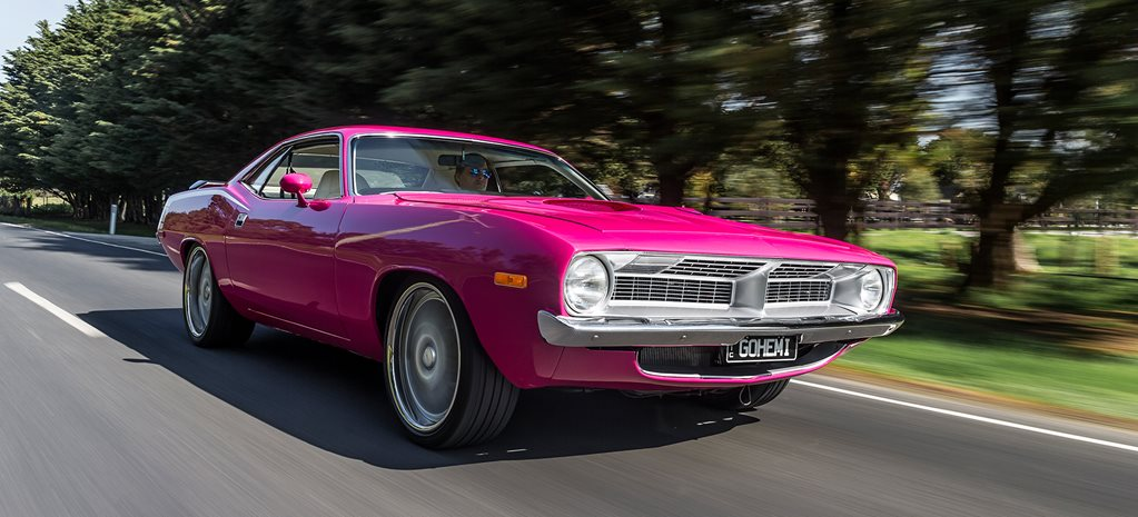 PINK 1972 PLYMOUTH BARRACUDA