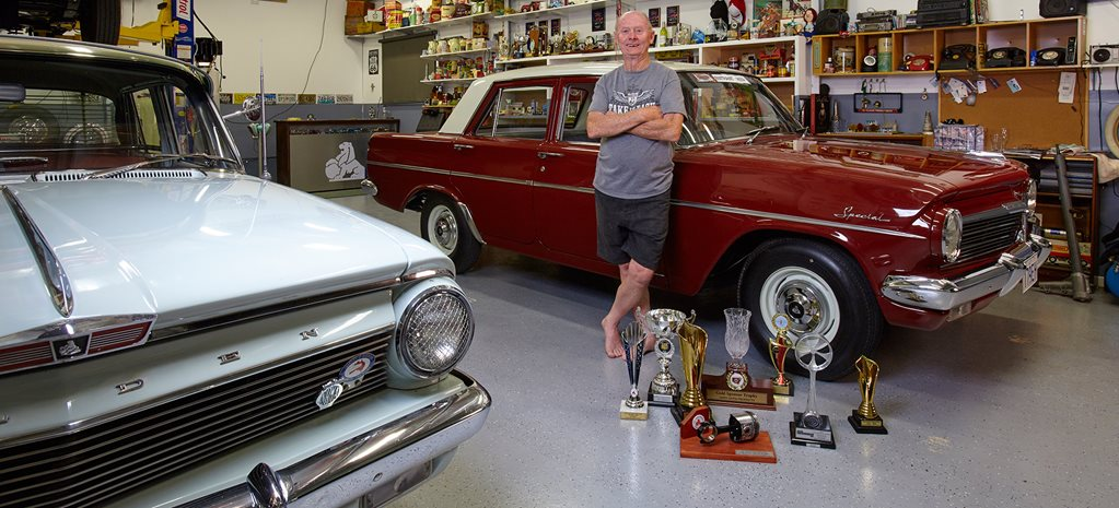 HARVEY MILES'S HOLDEN EH S4 AND GM TRIBUTE SHED