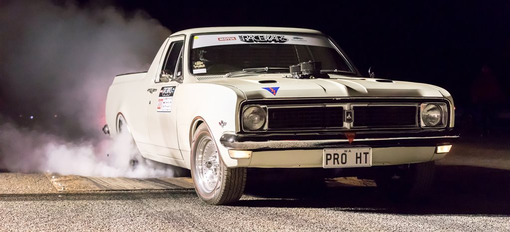 408CI SMALL-BLOCK CHEV-POWERED HT HOLDEN UTE AT RACEWARS