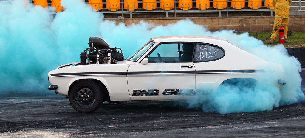 Ford Capri blown burnout MADSAM wide