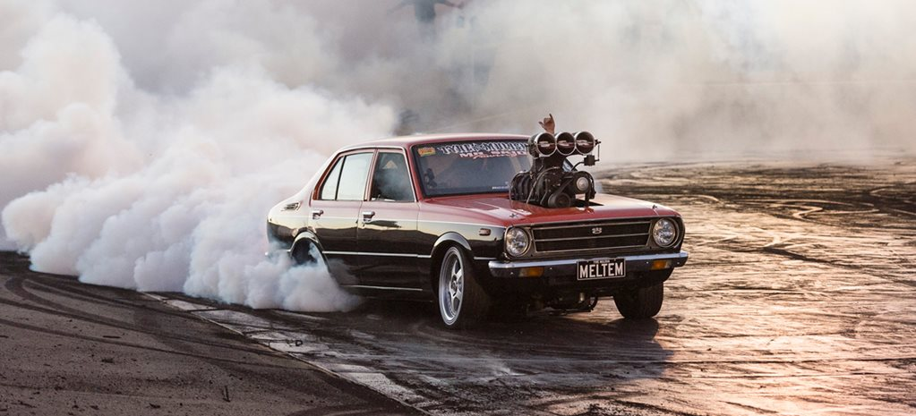Toyota Corolla burnout MELTEM wide