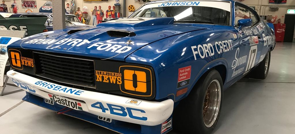 Ford XC Falcon Dick Johnson racecar wide