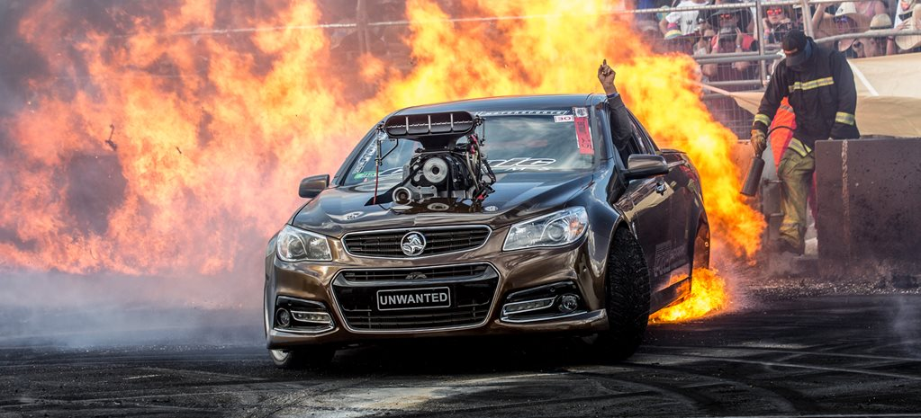 VF Commodore UNWANTED burnout fire wide