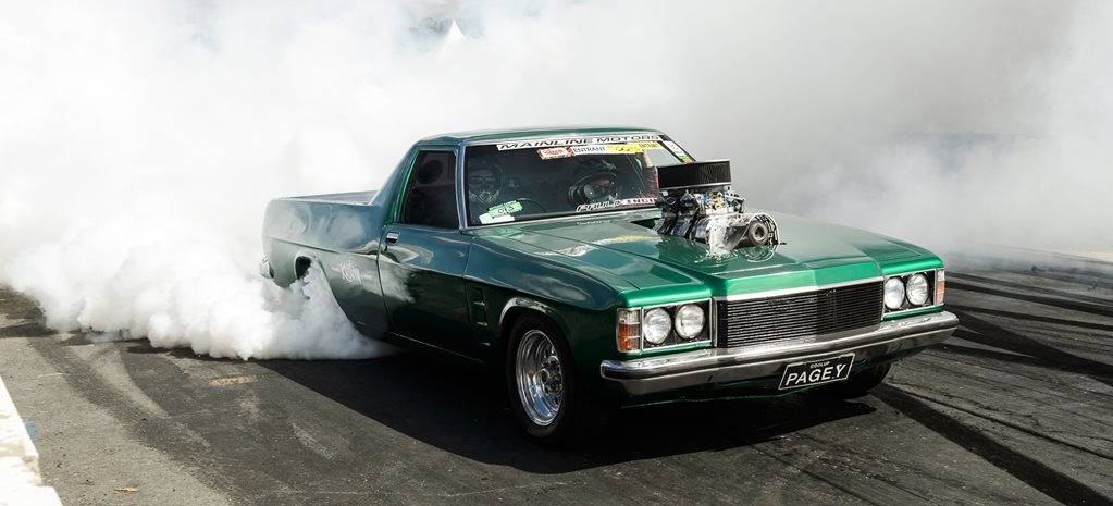 HZ Holden ute burnout PAGEY wIDE