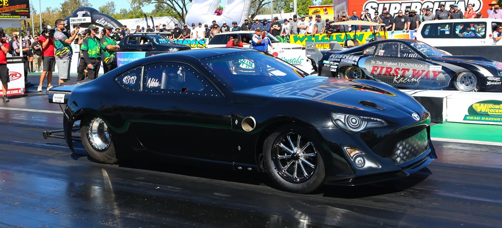 Toyota 86 drag car wide