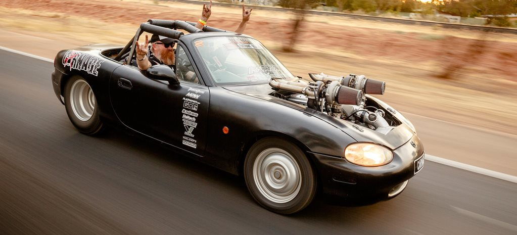 Mazda MX 5 V8 twin turbo wide