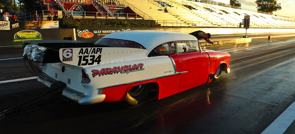 55 Chev Doorslammer Terry Seng wide