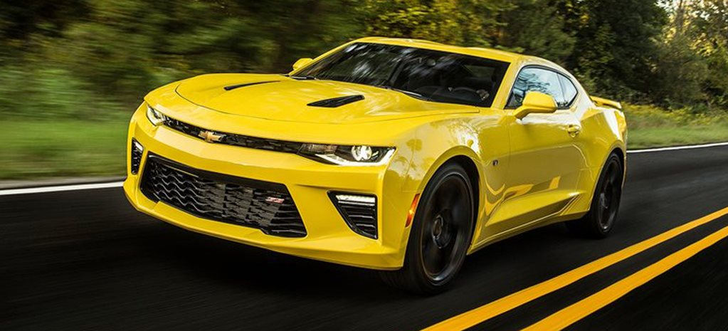 Chevy Camaro SS 2016 yellow wide