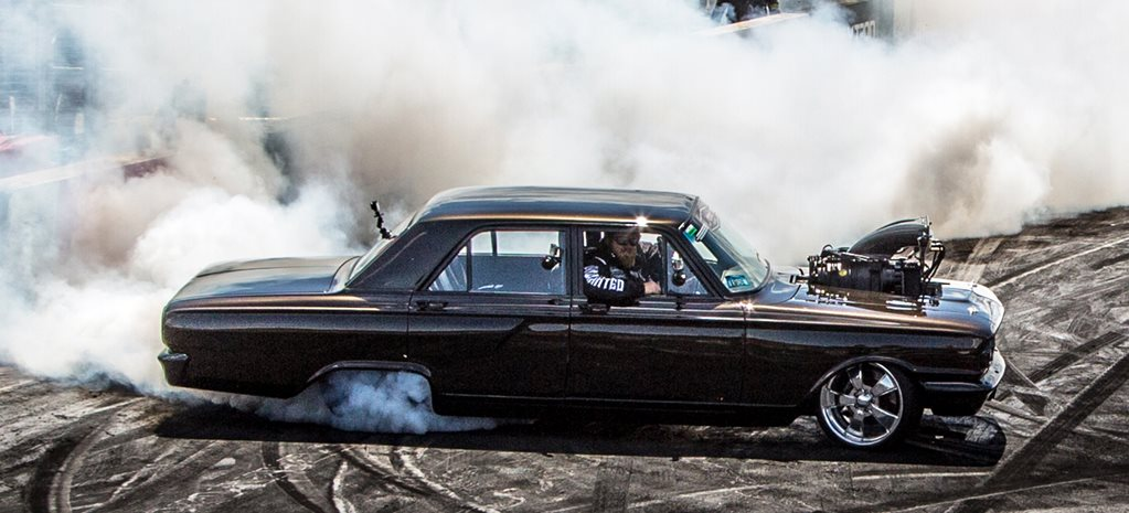 Compact Fairlane blown burnout wide