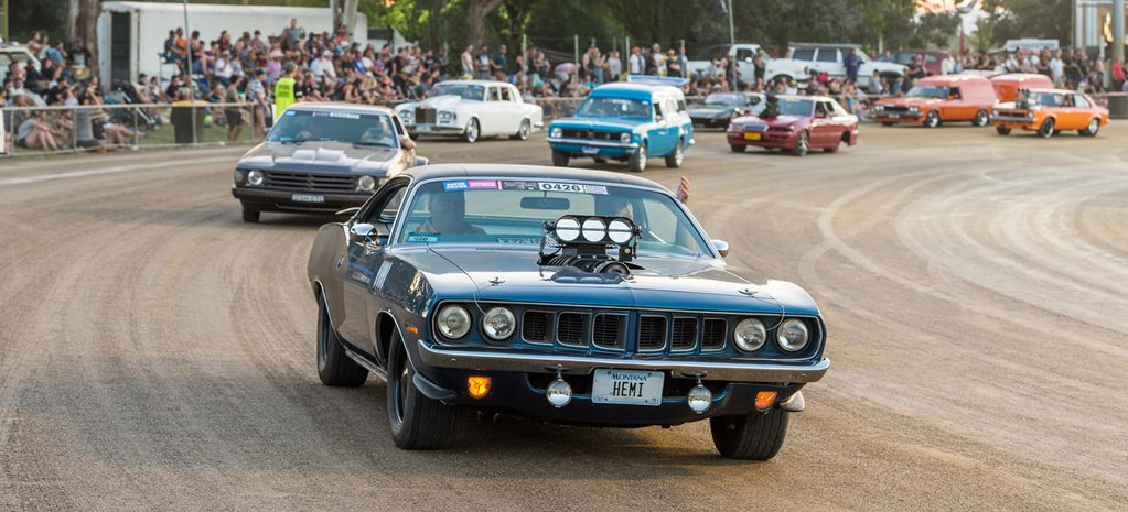 Plymouth Barracuda blown wide