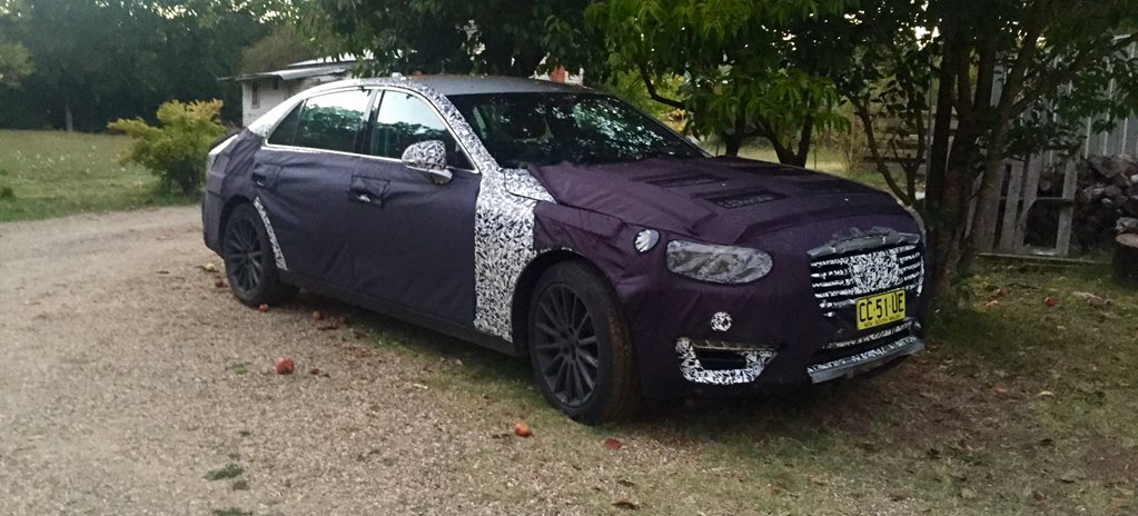 Sprung! 2016 Hyundai Equus caught Down Under