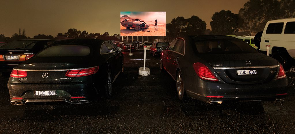 Mercedes-Benz S500 at the drive-in