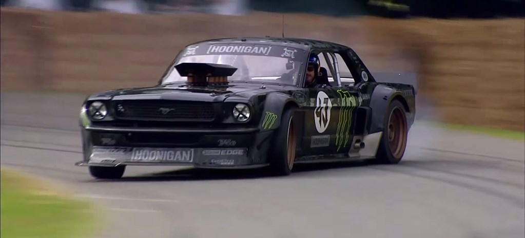 Ken Block (almost) crashes at Goodwood