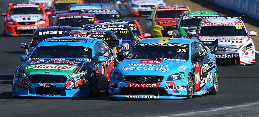 Ford takes triple V8 Supercars win at Queensland Raceway