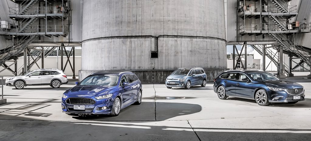 Citroen Grand C4 Picasso v Subaru Outback 2.0D v Ford Mondeo Titanium v Mazda 6 GT comparison review