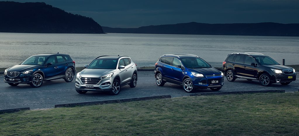 Mazda CX-5 v Hyundai Tucson v Ford Kuga v Subaru Forester comparison review