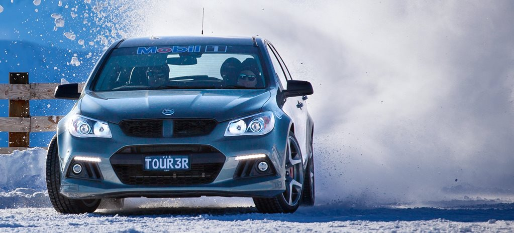 Spun out: HSV GTS drifting on snow