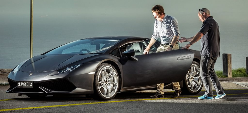Care for a Lamborghini Huracan as your Uber? Jump in