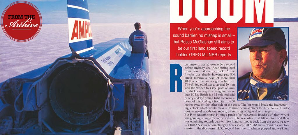 Archive: Rosco McGlashan's world land speed record attempt 1995