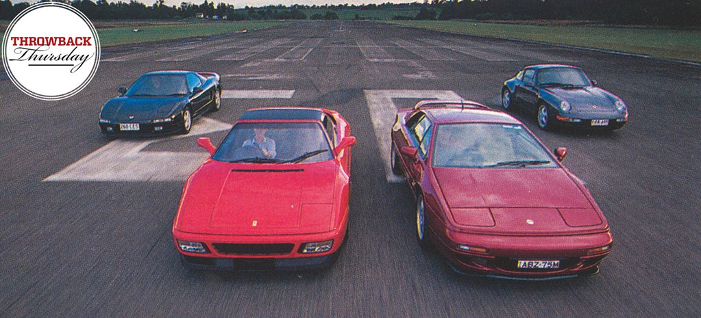 Archive: Ferrari 348ts vs Honda NSX vs Lotus Esprit S4 vs Porsche 911