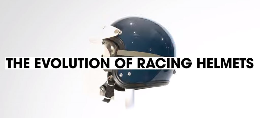 Video: The Evolution of racing helmets