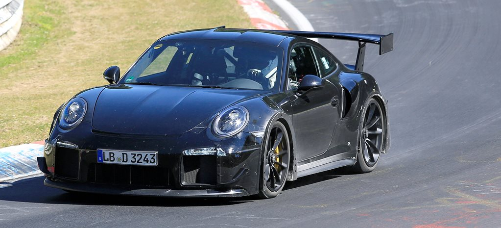 2017 Porsche 911 GT2 spied, sans manual transmission