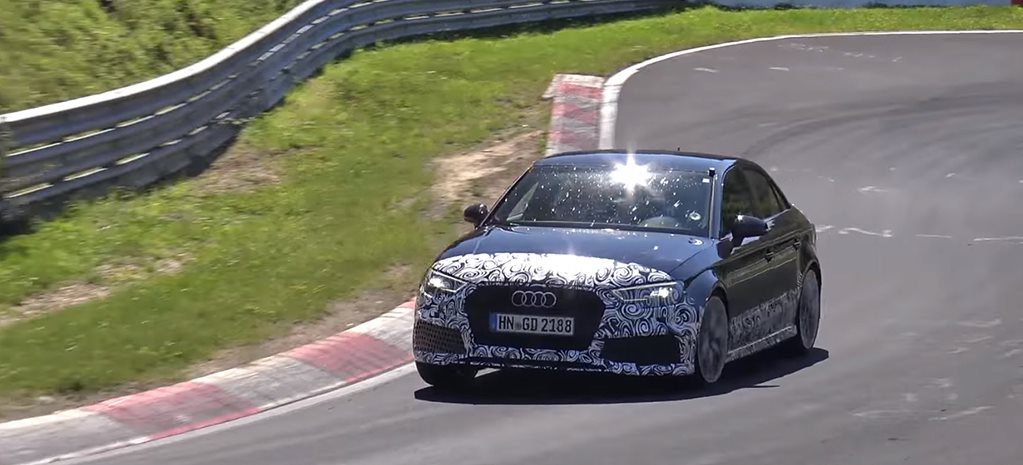 Attack the 'Ring: Audi RS3 Sedan prototype goes nuts at the Nordschliefe