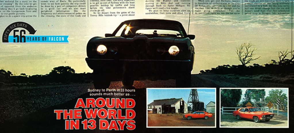 1977 Ford XC Falcon drives from Sydney to Perth