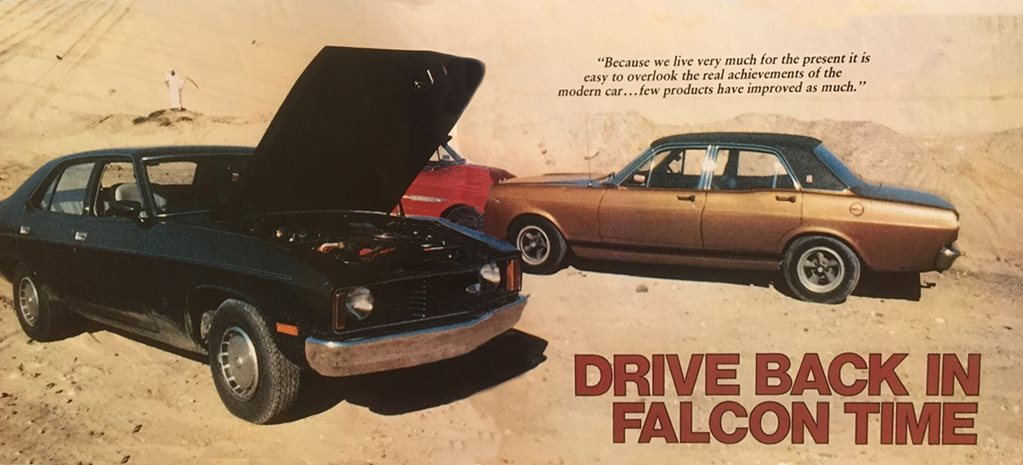 1978 Ford XC Falcon goes back in time