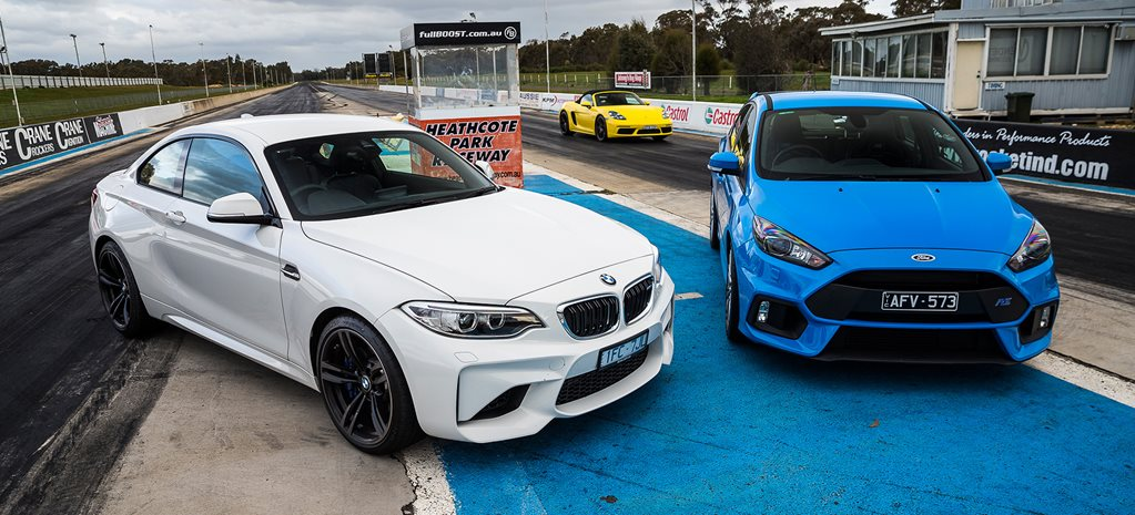Ford Focus RS vs BMW M2 Pure drag race