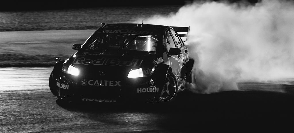 Shane van Gisbergen puts on smokeshow in V8 Supercar turned drift car