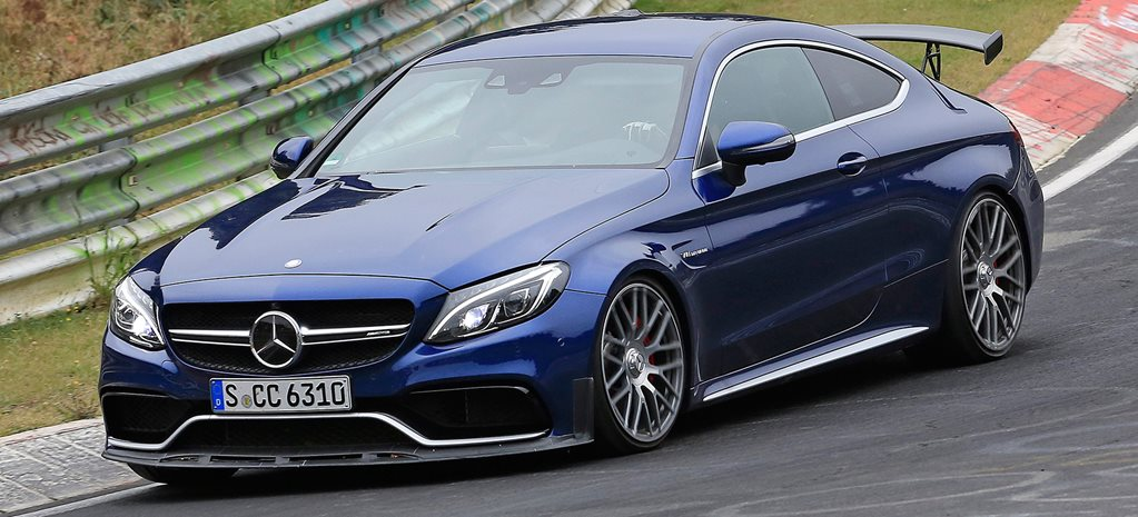 Mercedes-AMG C63 'R' Coupe spied