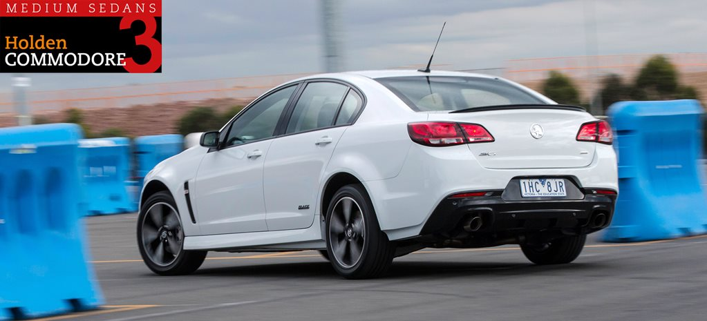 Family sedan comparison review: Holden Commodore SV6 Black