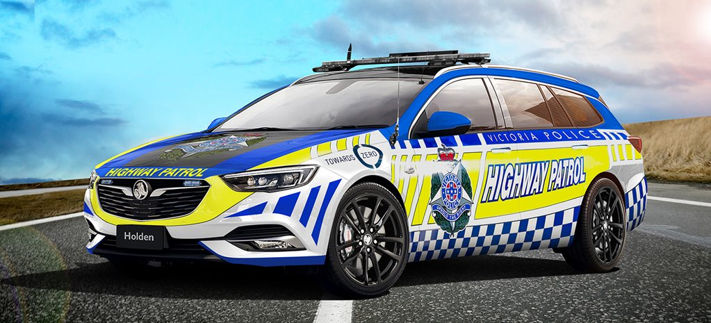 Imported Commodore wagon, BMW 5 Series on Highway patrol radar