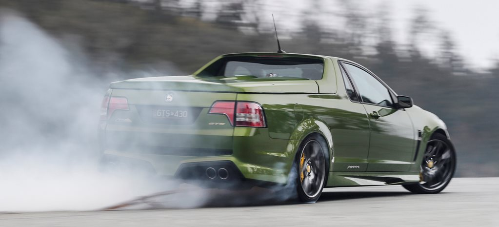 A smokey afternoon in the HSV GTS Maloo